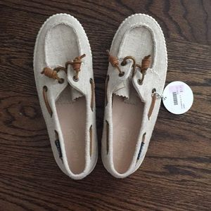 nwt paul sherry boat shoes